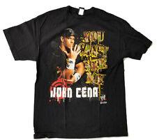 JOHN CENA Vintage T-Shirt WWE Wrestling YOU CAN'T SEE ME 2007  Size LARGE