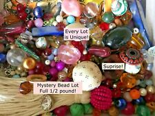 400 pc BEAD JEWELRY LOT Making Beads Crystals Glass 1/2 lb Pound VTG FRUIT SALAD