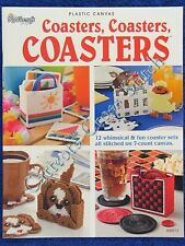 Plastic Canvas Pattern Coasters, Coaster COASTERs 12 Designs Butterfly Pig Dog
