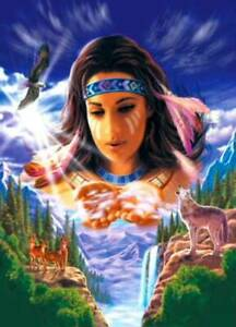NEW 500 PIECE JIGSAW PUZZLE SPIRIT IN THE SKY NATIVE AMERICAN SEALED MINT COND