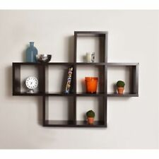 Danya B., Inc Cubby Laminated Walnut Veneer Shelving Unit