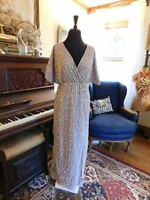 BEAUTIFUL SEQUENED MOTHER OF THE BRIDE-GROOM DUSTY LAVENDER DRAPED FORMAL PETITE