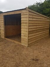 3.6 X 3.6 Metre Field Shelter Stable Tack Room Log Store 07940912751