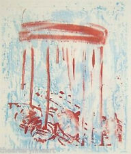PAT STEIR 'Red Drips (Waterfall)', 1991 SIGNED Aquatint Etching Print #36/75