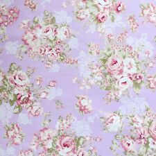 Yard~  Rose Flower Sprays On Purple Cotton Sewing Quilting Fabric By Studio E