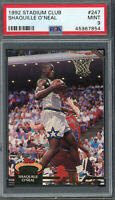 Shaquille O'Neal 1992 Topps Stadium Club Basketball Rookie Card #247 PSA 9 MINT