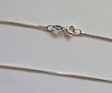"""Genuine Solid 925 Sterling Silver Box Chain Necklace 70cm 28"""" NOT PLATED Fine"""
