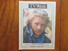 1987 N Y Daily News TV Week Mag(JOHN  SCHNEIDER/CHRISTMAS  COMES TO WILLOW CREEK