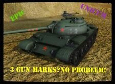 World of Tanks WOT 3 GUN MARKS OF EXCELLENCE MOE EU / NA No Bonus Code UNICUM XP