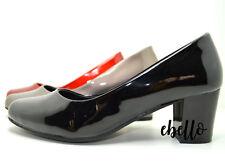 Ballerine con tacco vernice effetto lucido scarpe donna comode eleganti