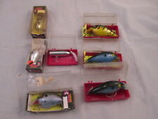 7 Assorted Cotton Cordell Lures Vintage NOS Big-O & Near Nothin' Orig Pkgs