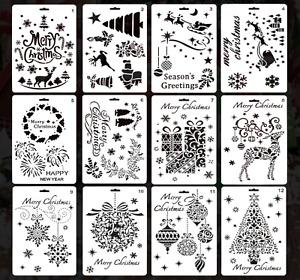 Weihnachten Schablone Set Scrapbook für Malen Geschenkkarte Party Resin Harz