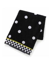 Mackenzie Childs DOTTY w/ Courtly Check Trim Polka Dot BATH TOWEL NEW $40 m21-au