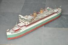 Early Vintage Big 26'' Long Handpainted Passenger Ship Tin Wind Up Toy , Germany