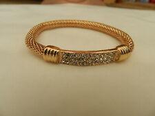 Armband goldfarbig, Strass - neu