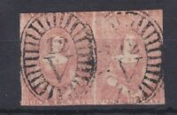 V234) Victoria 1851 Half length third state of the dies 1d Brownish-red SG 9b
