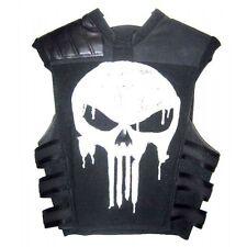 Thomas Jane Punisher Tactical Black Leather Vest - Best Price Offer