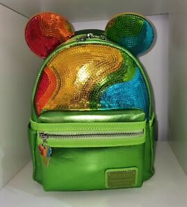 Loungefly Disney AULANI SHAVED ICE Parks Mini Backpack BNWT Perfect Sequins!