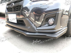 ABS Front Bumper Lip & Lip Protector For 2017 2018 Subaru Crosstrek XV Mat Black