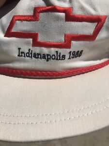VTG 1988 Indianapolis 500 Indy Car Racing Hat Adult Cap Chevrolet Rick Mears Win