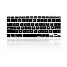 Russian / English BLACK Silicone Keyboard Cover for Macbook Pro 13