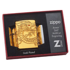 Zippo Lighter Gold plated Chinese Dragon 29265 COLLECTIBLE Brand New Boxed