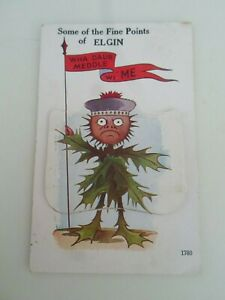 ELGIN (Scotland) - Vintage Mailing Novelty Card With 12 Pull Out Views §ZA696