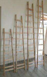 Scala scaletta a pioli artigianale in legno  nuova produzione pioli in faggio