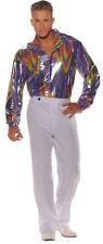 Morris Costume Men's New Long Sleeve Disco Polyester Shirt Adult 2XL. UR28595XXL