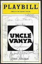 ~ Chekhov Uncle Vanya ✎ HAND-SIGNED ✎ Playbill Klemperer Courtenay Donahue Cast