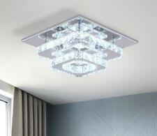 Square K9 Crystal LED Ceiling Light Fixtures Modern Chandelier Lamp
