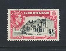 GIBRALTAR 1938, 5sh PERF 13½, VF LH SG#129a CAT£50 (SEE BELOW)