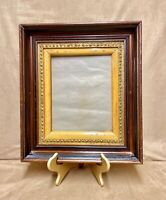 Late 1800s Victorian Antique Eastlake Layered Frame, Embossed Gilt Incised Beech