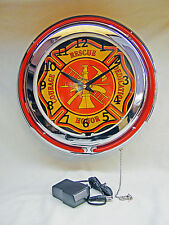 Fire House Rescue Lighted Neon Sign - New