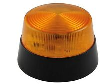 LAMPE GYROPHARE ECLAIRAGE STROBOSCOPE FLASH ORANGE 12V ø 77 mm A 15 LED