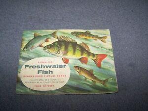Brooke Bond Picture Cards Album  ~ Freshwater Fish  ~ 6d ~ complete