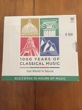 1000 Years of Classical Music: Our World in Sound (CD, Mar-2016, 8 Discs, ABC...