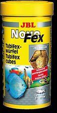JBL NovoFex 250ml Tubifex Cubes induce spawning aquarium fish food freeze dried