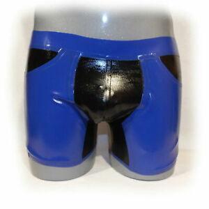 Gummi rubber Latex  black&dark blue fashion shorts sport vacation casual pants