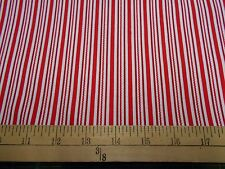 "1 yard ""Red & White Multi Stripe"" Christmas Fabric"