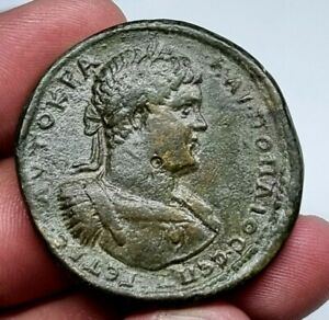 EXTREMELY RARE MINT ANCIENT ROMAN BRONZE SESTERTIUS OF GETA.30 GR.39 MM