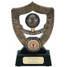 CELEBRATION SHIELD GOLF NEAREST THE PIN TROPHY PLAYER BALL AWARD 17.75cm A348