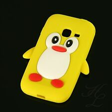 Samsung Galaxy Ace Duos S6802 Silikon Case Handy Schutz Hülle Etui Pinguin Gelb