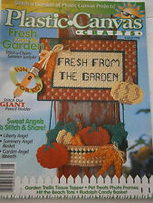 August 1998 Plastic Canvas Crafts Pattern Book Magazine Garden Angel Wreath