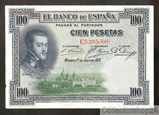 Spain 100 Pesetas 1925 Pr / Xf  pn E Serial 69c