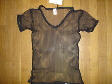 T-shirt noir Taille XL  résille transparent sheer sexy gay Ref M09