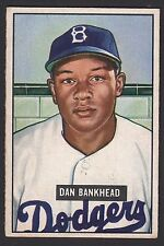 1951 Bowman #225 Daniel Dan Bankhead Brooklyn Dodgers baseball card