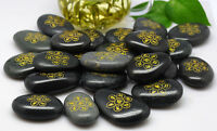 TIBETAN BLESSED MANI MANTRA MYSTERIOUS HOLY BLACK LUCKY STONE FROM HOLY RIVER =