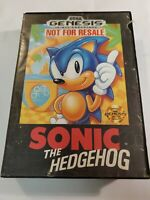 Sonic the Hedgehog (Sega Genesis, 1991) Not for Resale, Original CIB