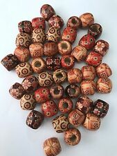 100 pcs Brown Wood Beads bead 17mm Bead Jewelry Making Wooden Tool red barrel